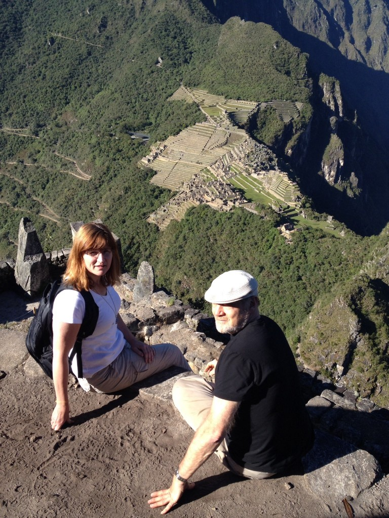 Tom and Nancy at the top of Machu Picchu